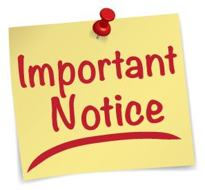 "Sticky Note image depicting an ""Important Notice"""