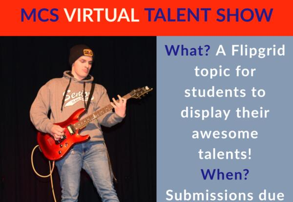 It's Talent show time! We invite K-12 students to submit a 3 minute video on our countywide Flipgrid