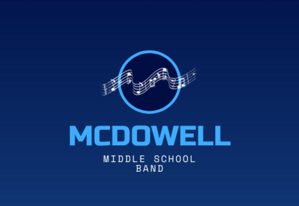 music notes in circle McDowell Middle School Band