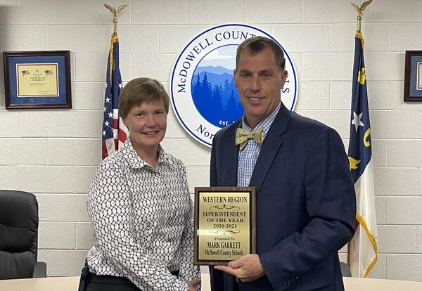 MCS Superintendent Garrett Named West Region Superintendent of the Year
