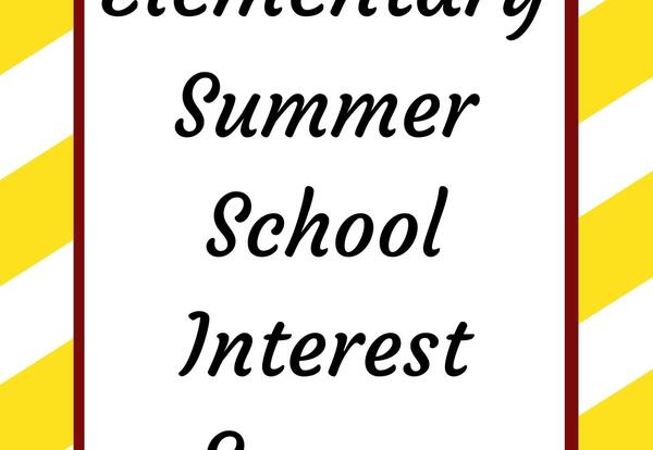 Summer School Interest Survey