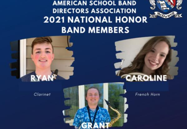 MHS Students Earn Spots in 2021 National Honor Band