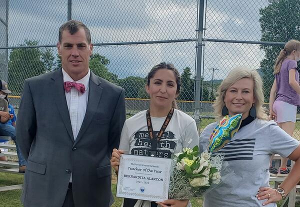 Congratulations Bernardita Alarcon MCS County TOY  & Secondary TOY