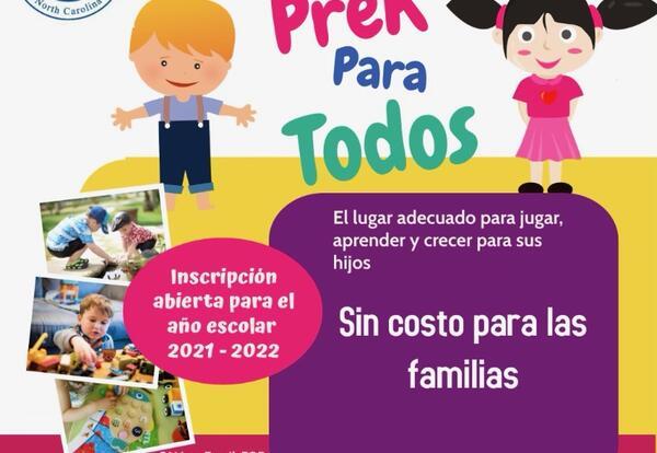 Pre K 4 For All Information (Spanish)
