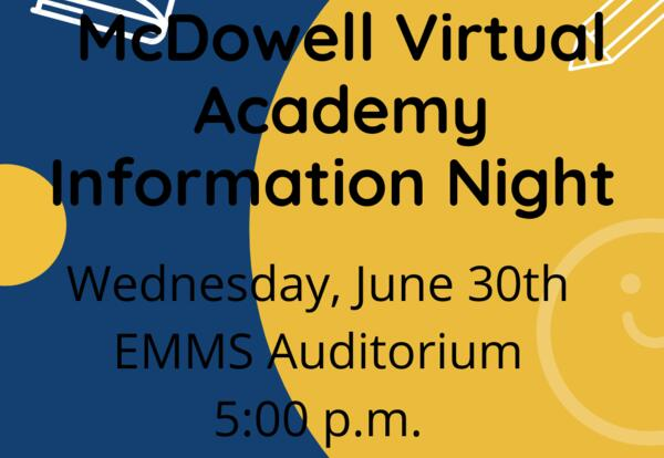 Family Information Sessions for McDowell Virtual Academy