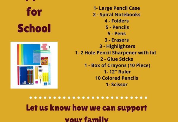 School Supplies 21-22