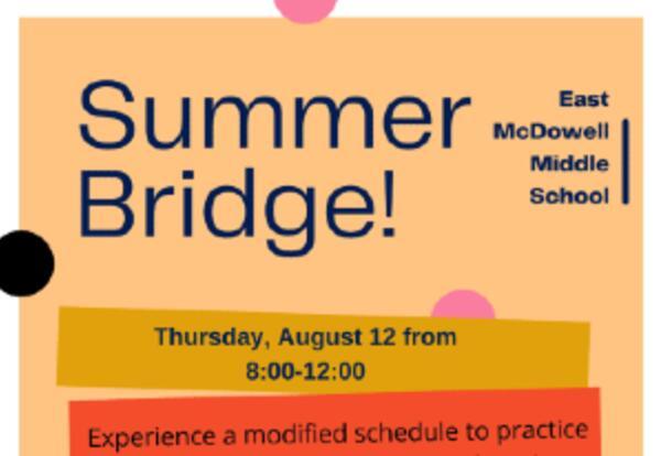 Summer Bridge - August 12th
