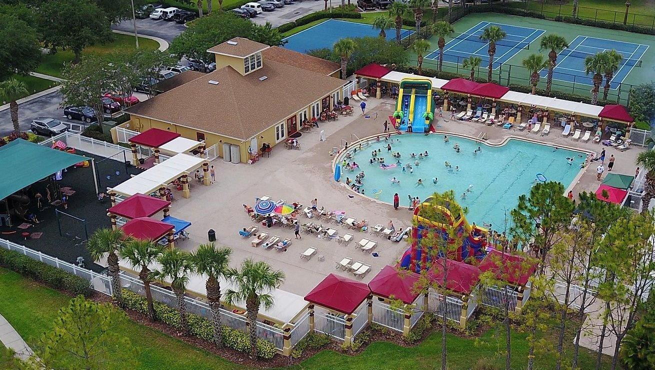 Ariel view of the amenities