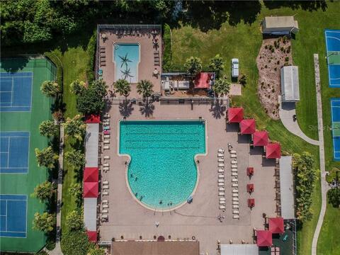 Clubhouse Pool from above