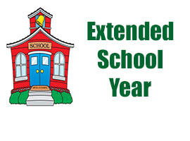 Extended School Year Graphic with School House