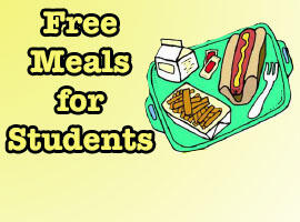 Free Meals Graphic with Lunch Tray