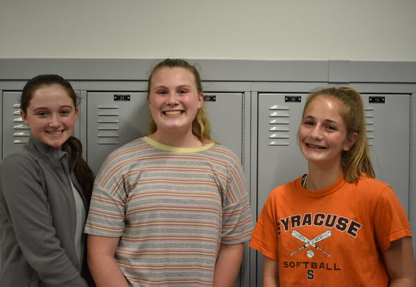 Chestnut Hill Middle seventh-graders Elise Flavin, Arianna Kuzniaand Lexi Beck
