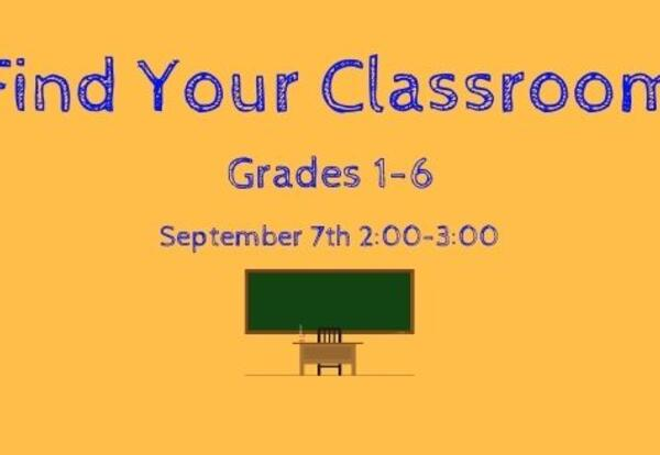 Find Your Classroom for Grades 1-6 at Nate Perry Elementary from 2:00pm- 3:00pm