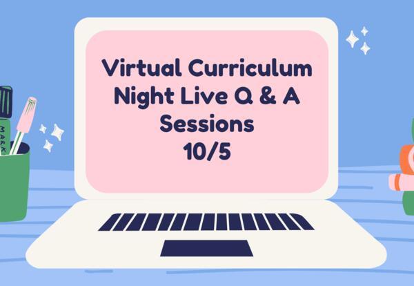 Virtual Curriculum Night 10/5