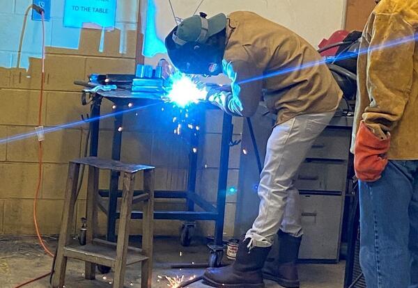 Welding Students Learn New Welding Technique