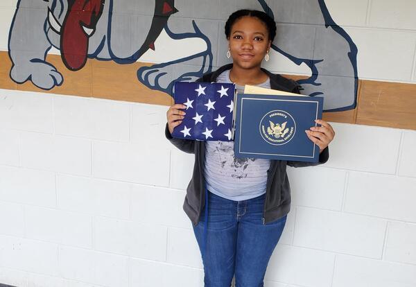 Demeria Moore receives academic award