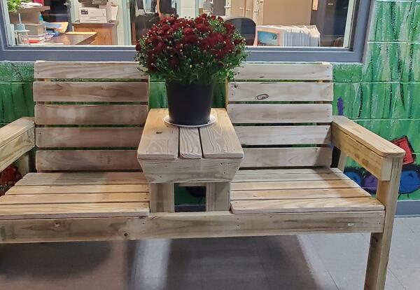 Fall PTO Fundraiser: $1.00 Ticket on Wooden Bench