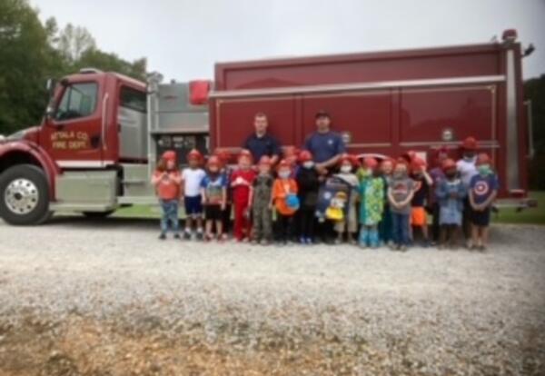 Firefighters Visit Greenlee