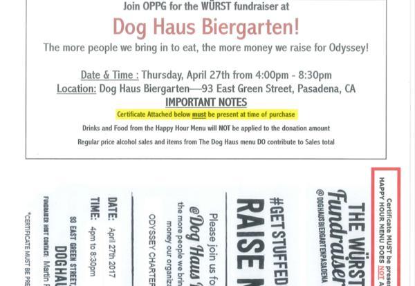 OPPG Fundraiser at Dog Haus Biergarten on April 27th