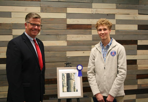 Wheaton Academy Junior Receives Distinguished Congressional Art Award