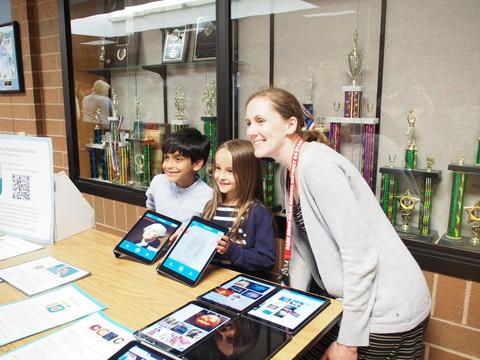 ITC Allison Sobotka poses with Students