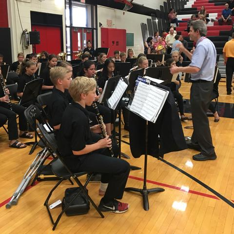 Band plays for graduation