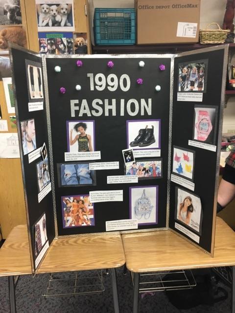 "Student ""Vogue"" display"