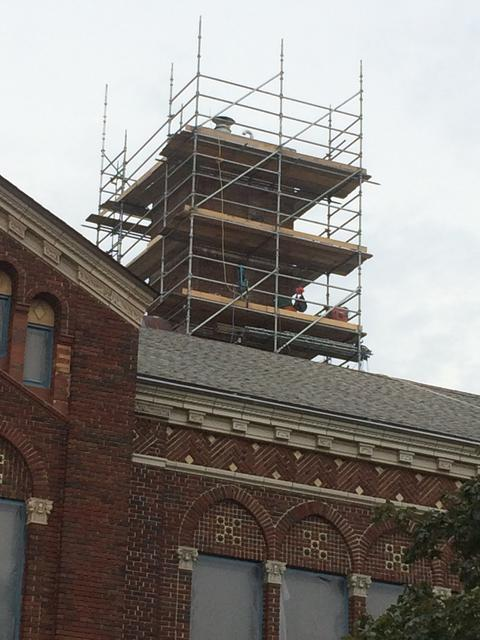 Working on Lincoln Chimney