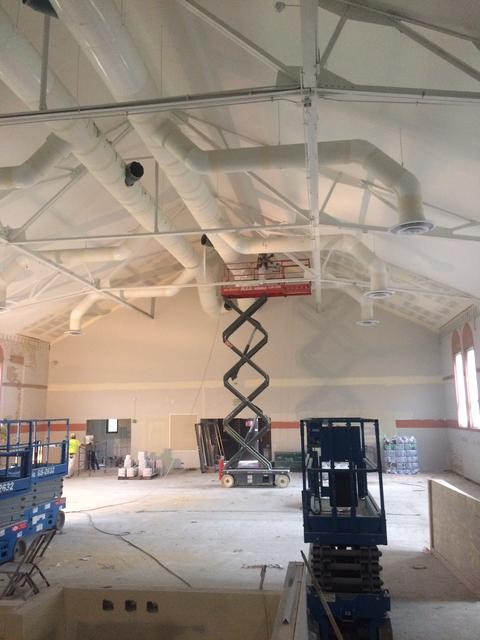 Painting Lincoln LRC Ceiling