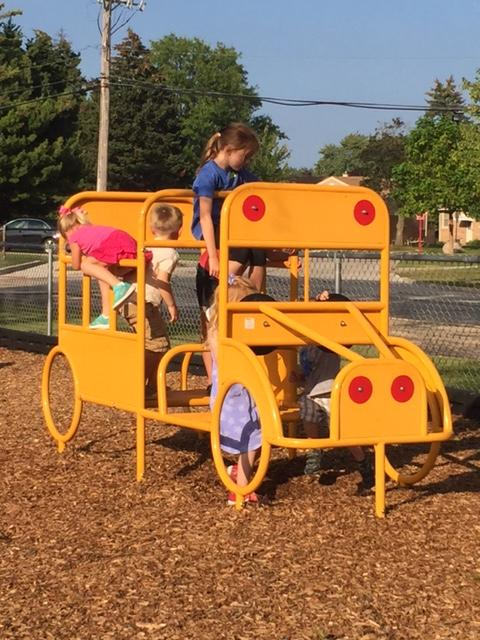 It's not a real school bus, but the kids love it the same!