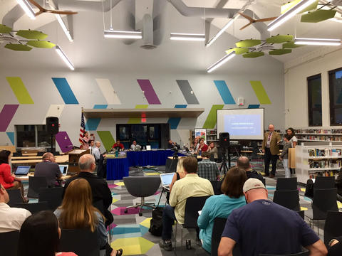 View of LIncoln's new LRC during recent Board of Ed meeting