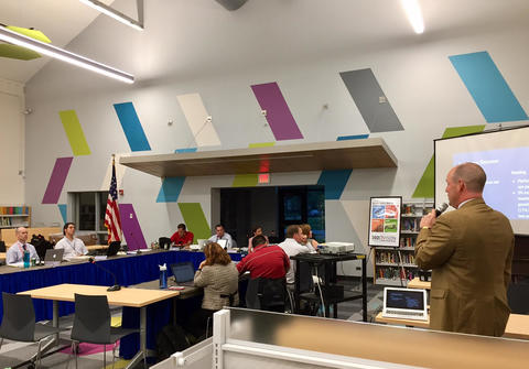 Board of Ed meeting in Lincoln's new LRC