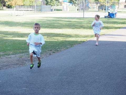 Running in the walk-a-thon