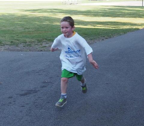 Boy on track