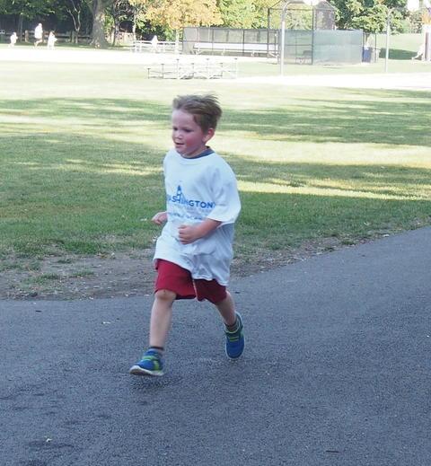 Boy at walk-a-thon