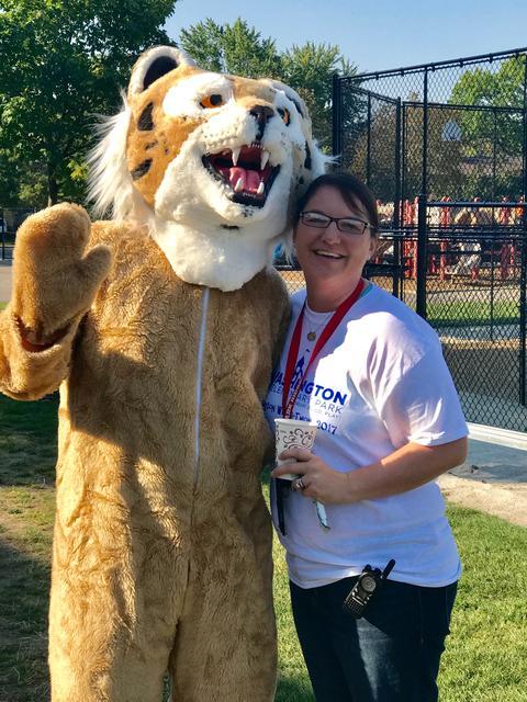 Principal with mascot