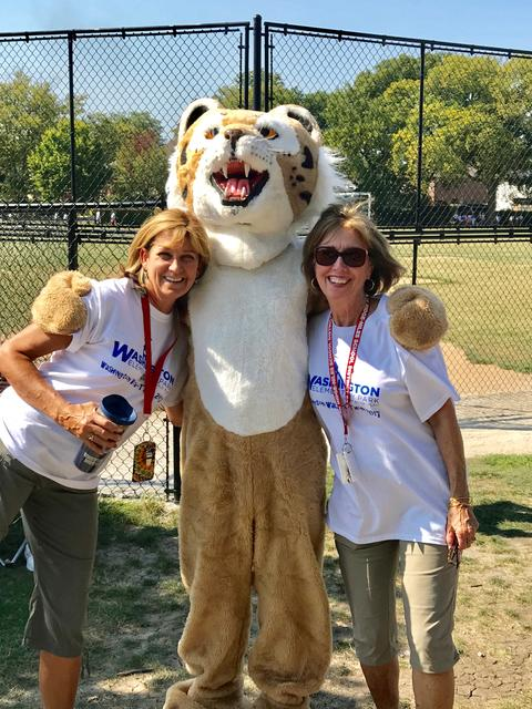 Teachers with mascot