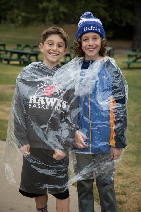 boys in rain gear