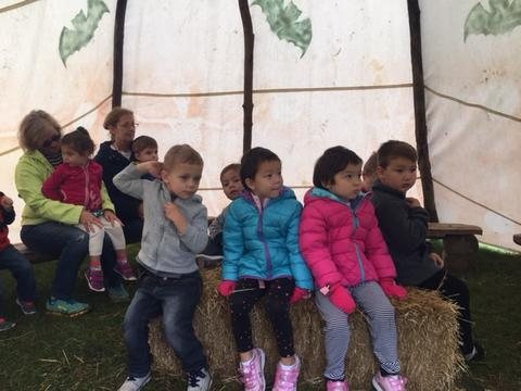 Storytime in tepee