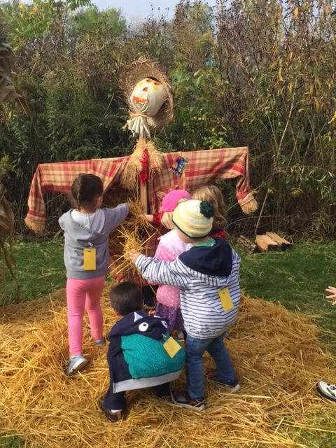 Stuffing a scarecrow