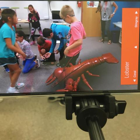 lobster image on teacher device