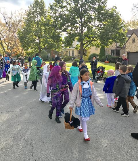 student halloween parade