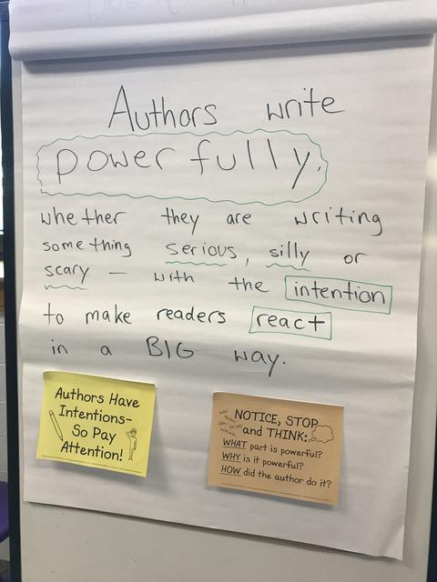 picture of extra large post it about authors