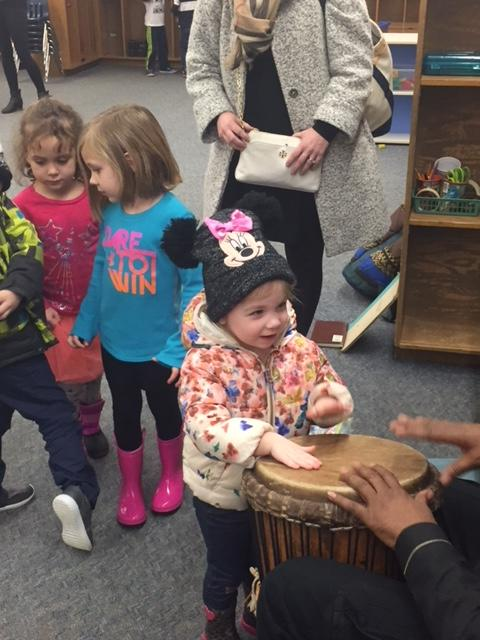 Even little ones play the drum