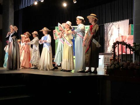 Suffragettes on stage