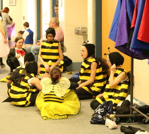 Bees back stage