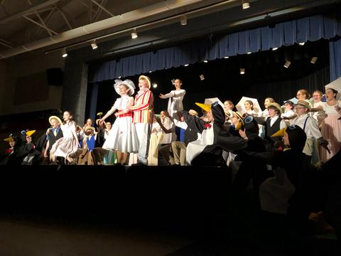 Cast members after penguin dance