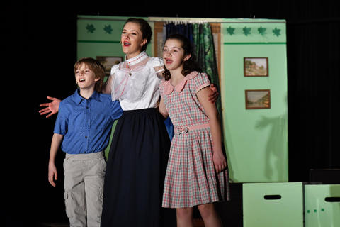Mary Poppins with Banks children