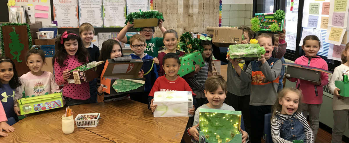 Class with St. Patrick's day project