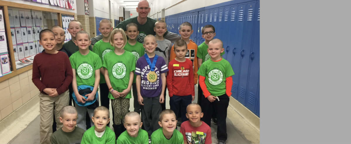 students after St. Baldrick's event